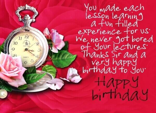 Happy Birthday Teacher Greeting Card