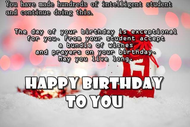 Happy Birthday Wishes for Teacher Nice Lines