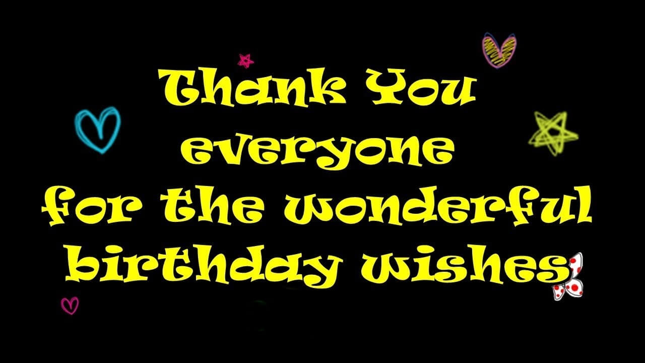 Birthday Wishes Reply To Everyone