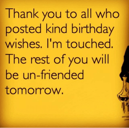 Funny Birthday Wish Reply On Social Media