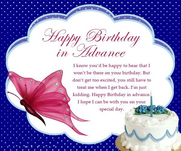 Advance Birthday Wishes Quotes