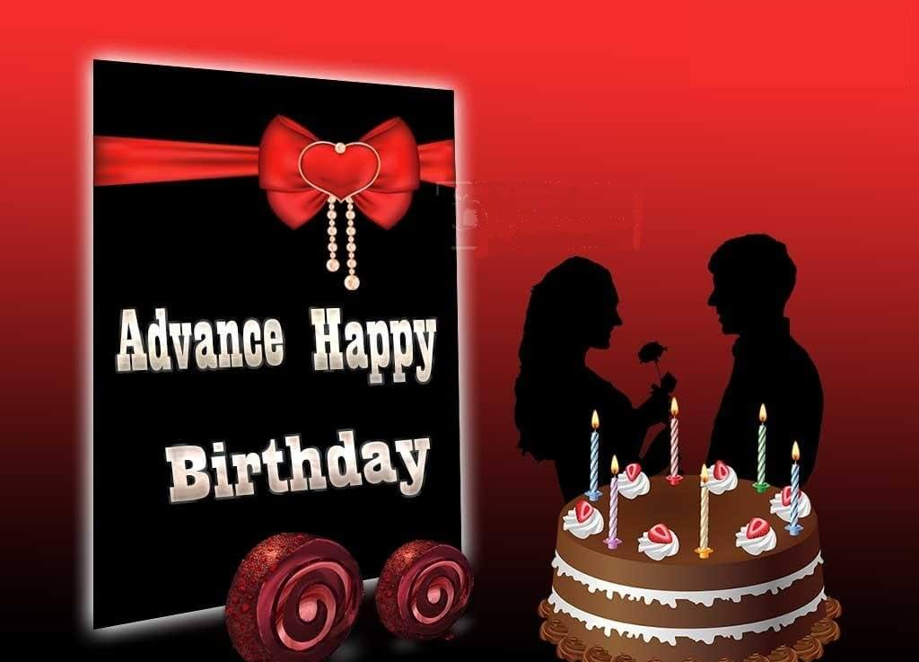 Advance Birthday Wishes Red