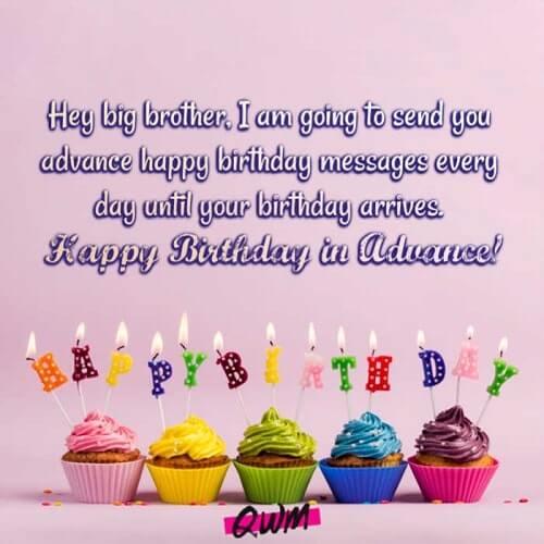 Advance Birthday Wishes Status