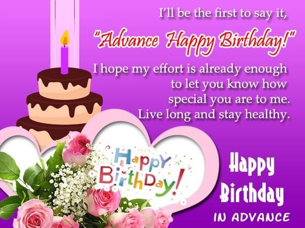 Advance Birthday Wishes Thumbnail