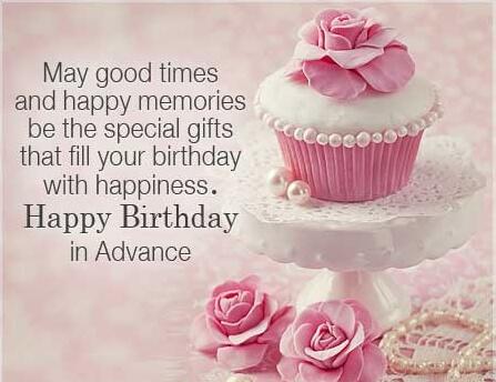 Birthday In Advance