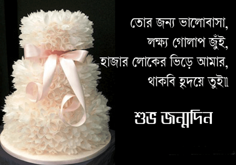 Happy Birthday Wishes in Bengali Cake