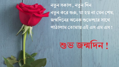 Happy Birthday Wishes in Bengali Rose