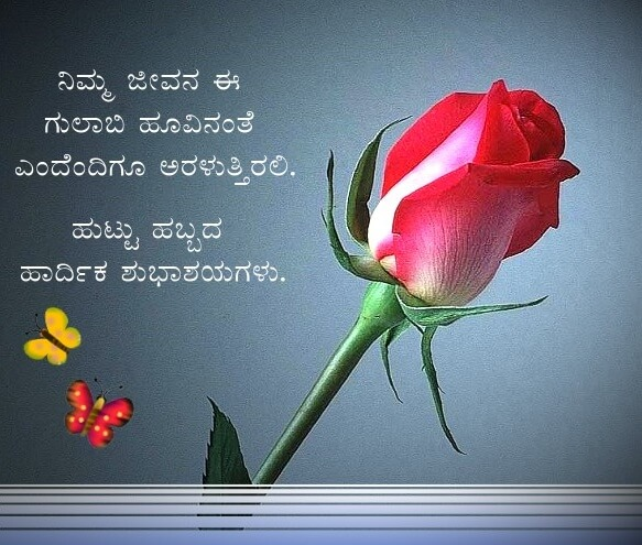 Happy Birthday Wishes in Kannada Rose