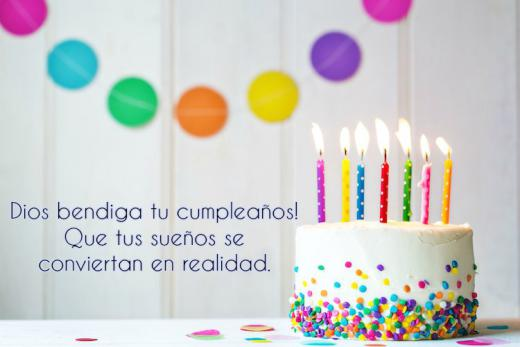 Happy Birthday Wishes in Spanish Cake