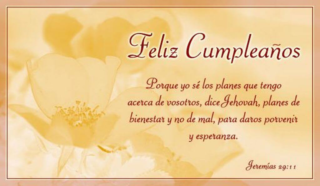 Happy Birthday Wishes in Spanish Flowers