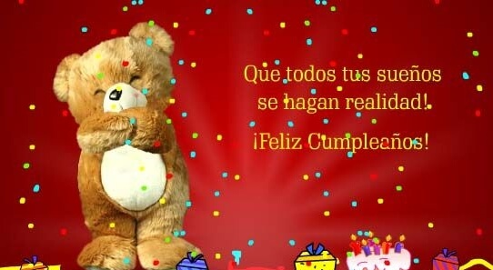 Happy Birthday Wishes in Spanish Teddy Bear