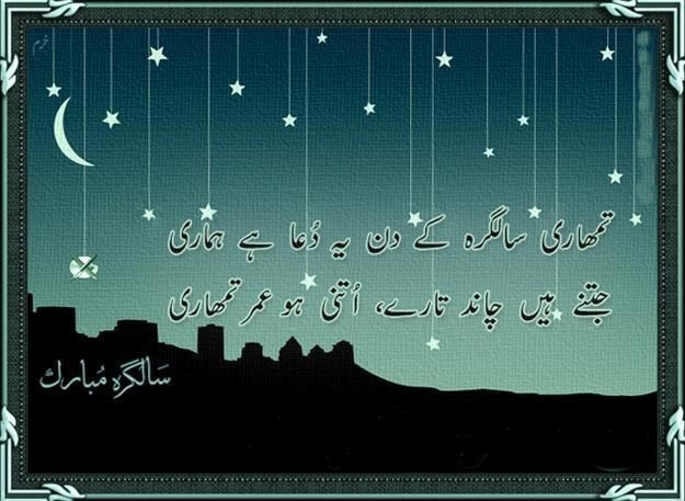 Happy Birthday Wishes in Urdu Greeting Card