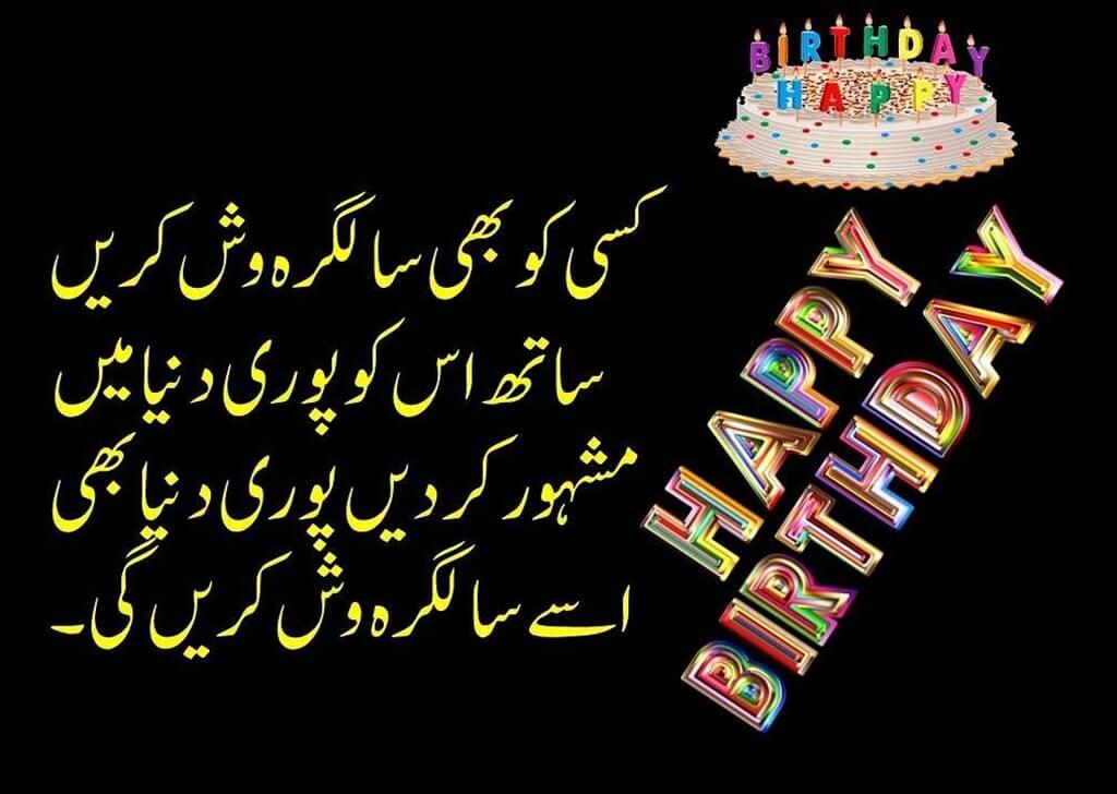 Happy Birthday Wishes in Urdu Greetings