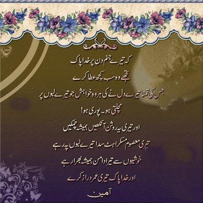 Happy Birthday Wishes in Urdu SMS