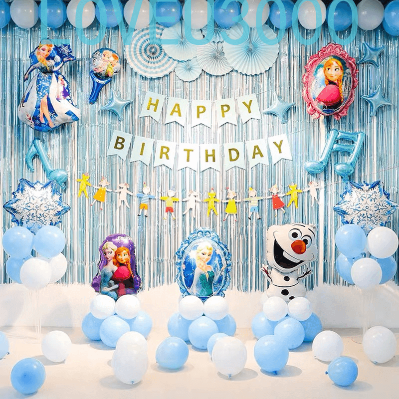 Frozen Fever Happy Birthday Wishes Balloons