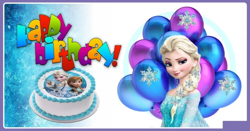 Frozen Happy Birthday Wishes Cake