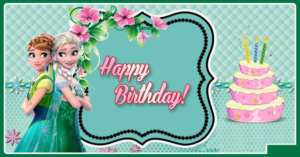 Frozen Happy Birthday Wishes Card