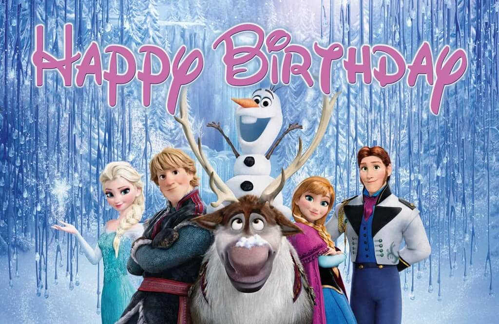 Frozen Happy Birthday Wishes Characters