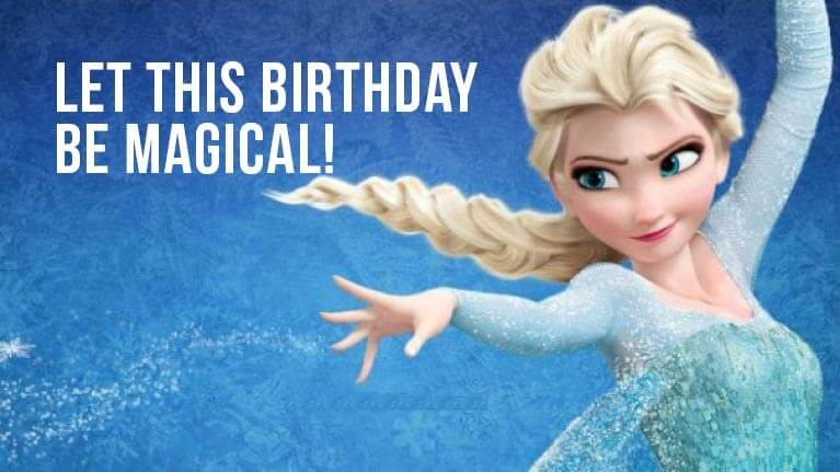 Frozen Happy Birthday Wishes Message