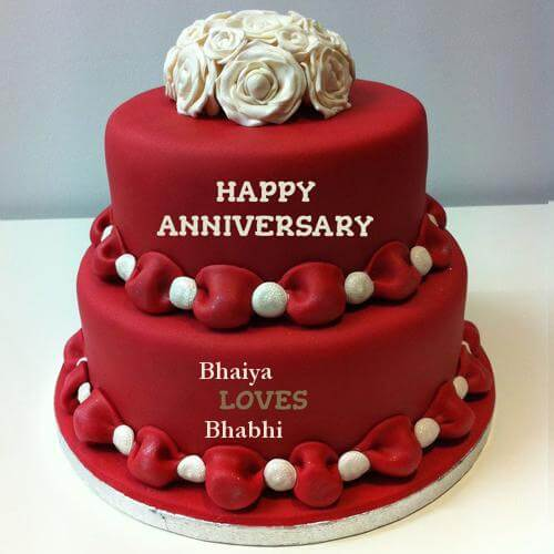 Happy Anniversary Wishes for Bhaiya & Bhabhi Cake