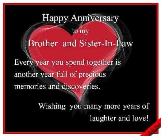 Happy Anniversary Wishes for Bhaiya & Bhabhi Heart