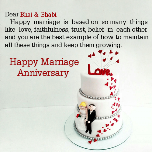 Happy Anniversary Wishes for Bhaiya & Bhabhi Message