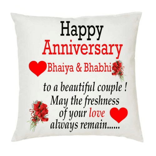 Happy Anniversary Wishes for Bhaiya & Bhabhi Red Rose