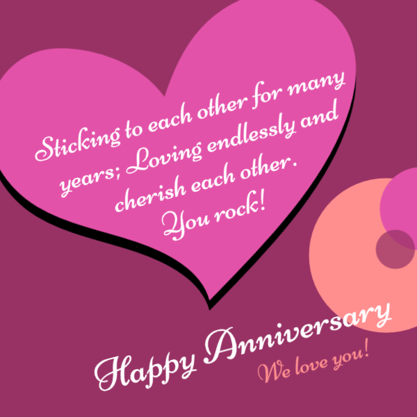 Happy Anniversary Wishes Heart