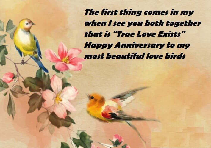 Happy Anniversary Wishes For Mom & Dad Birds