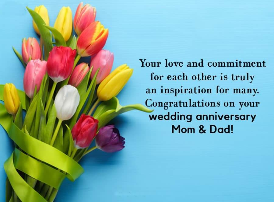 Happy Anniversary Wishes For Mom & Dad Flowers