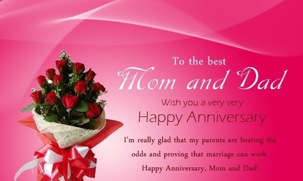 Happy Anniversary Wishes For Mom & Dad Message