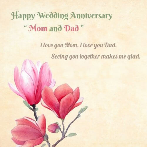 Happy Anniversary Wishes For Mom & Dad Quotes