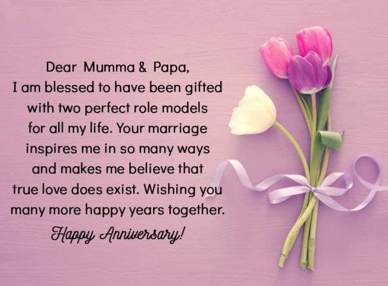Happy Anniversary Wishes For Mom & Dad Status