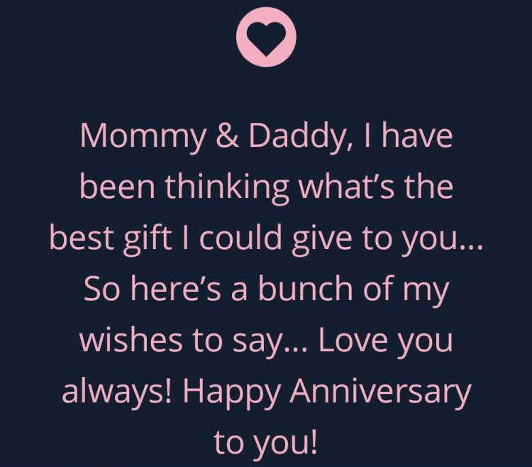 Happy Anniversary Wishes For Mom & Dad