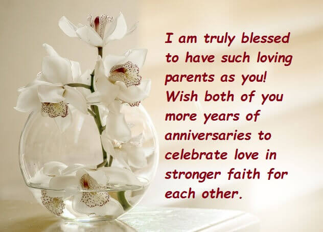 Happy Anniversary Wishes For Mom & Dad Greeting Card
