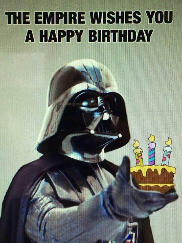 Star Wars Happy Birthday Wishes Empire