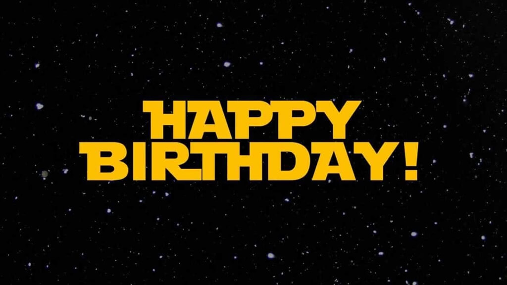 Star Wars Happy Birthday Wishes Galaxy