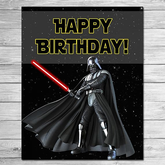 Star Wars Happy Birthday Wishes Greeting Card