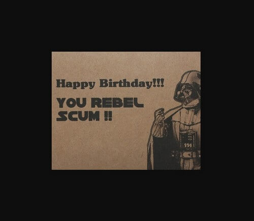 Star Wars Happy Birthday Wishes Rebel