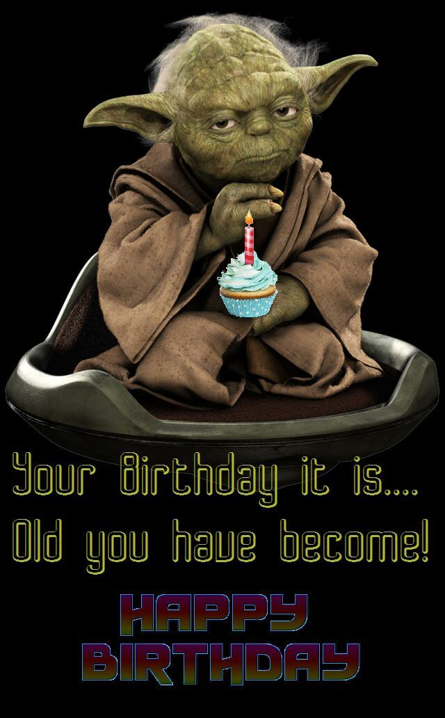 Star Wars Happy Birthday Wishes Yoda Pudding