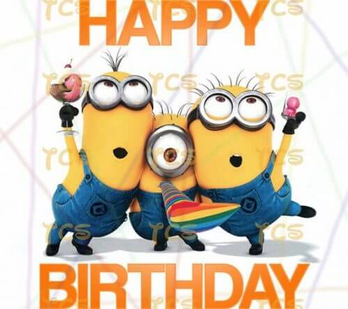 Minions Happy Birthday Wishes Greeting Card