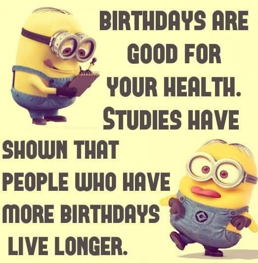 Minions Happy Birthday Wishes Greeting Live Longer