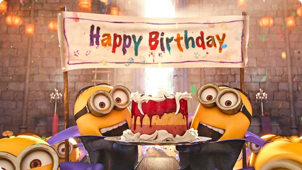Minions Happy Birthday Wishes Party People