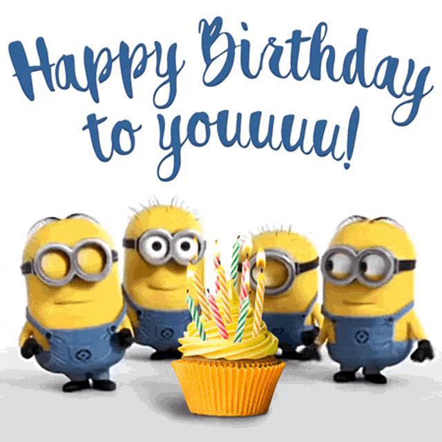 Minions Happy Birthday Wishes Pudding