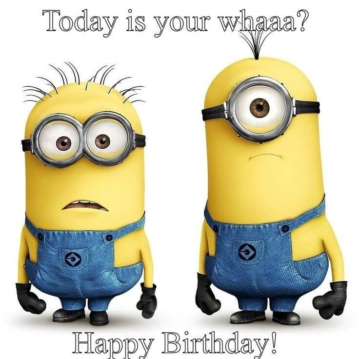 Minions Happy Birthday Wishes Shocked