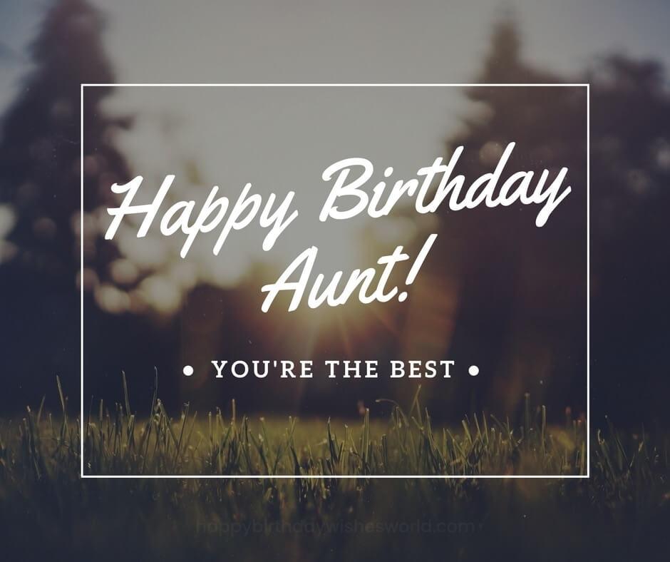 Happy Birthday Aunt Best Wishes