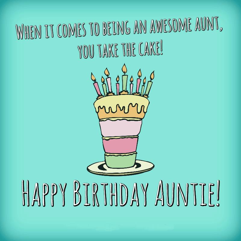 Happy Birthday Aunt Cake