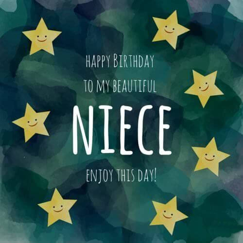 Happy Birthday Niece Stars