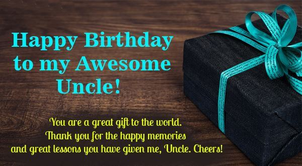 Happy Birthday Uncle Gift