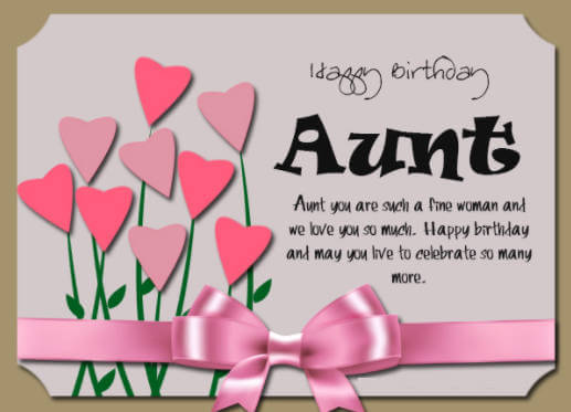 Happy Birthday Wishes For Aunt Flowers